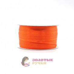 Атласная лента в рулонах по 144 ярда, ширина 3 мм, цвет оранжевый