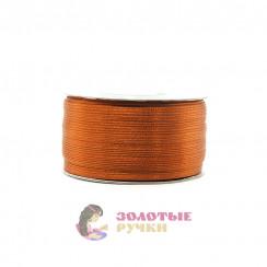 Атласная лента в рулонах по 144 ярда, ширина 3 мм, цвет коричневый