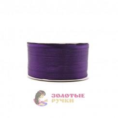 Атласная лента в рулонах по 144 ярда, ширина 3 мм, цвет фиолетовый