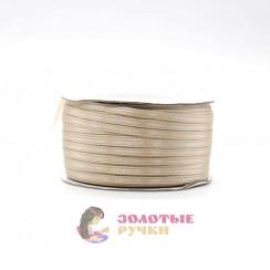 Атласная лента в рулонах по 144 ярда, ширина 3 мм, цвет бежевый