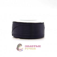 Атласная лента в рулонах по 144 ярда, ширина 3 мм, цвет черный