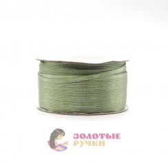 Атласная лента в рулонах по 144 ярда, ширина 3 мм, цвет хаки