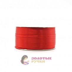 Атласная лента в рулонах по 144 ярда, ширина 3 мм, цвет красный