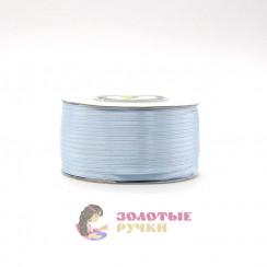 Атласная лента в рулонах по 144 ярда, ширина 3 мм, цвет голубой