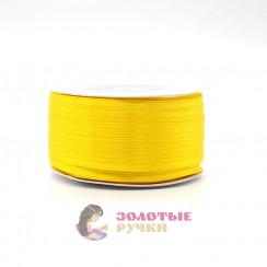 Атласная лента в рулонах по 144 ярда, ширина 3 мм, цвет желтый
