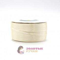Атласная лента в рулонах по 144 ярда, ширина 3 мм, цвет молочное