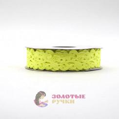 Лента декоративная атласная цветочный узор в упаковке 10 ярд ширина 20 мм цвет желтый