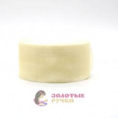 Лента капроновая в рулонах по 50 ярдов, ширина 50 мм, цвет молочный