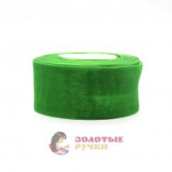 Лента капроновая в рулонах по 50 ярдов, ширина 50 мм, цвет зеленый