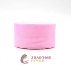 Лента капроновая в рулонах по 50 ярдов, ширина 50 мм, цвет розовый