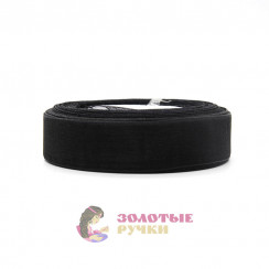Лента капроновая в рулонах по 50 ярдов, ширина 25 мм, цвет черный