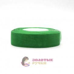 Лента капроновая в рулонах по 50 ярдов, ширина 25 мм, цвет зеленый