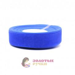 Лента капроновая в рулонах по 50 ярдов, ширина 25 мм, цвет синий