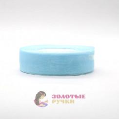 Лента капроновая в рулонах по 50 ярдов, ширина 25 мм, цвет голубой