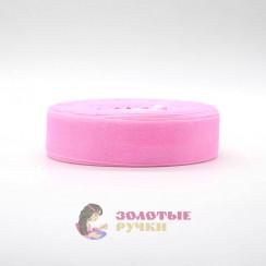 Лента капроновая в рулонах по 50 ярдов, ширина 25 мм, цвет розовый