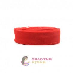 Лента капроновая в рулонах по 50 ярдов, ширина 25 мм, цвет красный