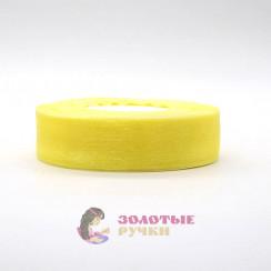 Лента капроновая в рулонах по 50 ярдов, ширина 25 мм, цвет желтый