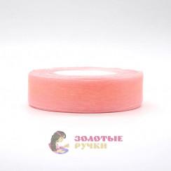 Лента капроновая в рулонах по 50 ярдов, ширина 25 мм, цвет персик