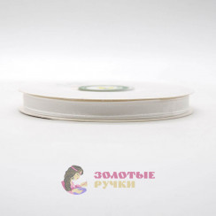 Лента капроновая в рулонах по 50 ярдов, ширина 6 мм, цвет белый