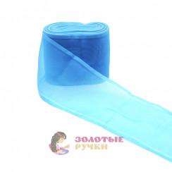 Лента капроновая в рулонах 25 метров, ширина 80 мм, цвет голубой