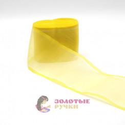 Лента капроновая в рулонах 25 метров, ширина 80 мм, цвет желтый
