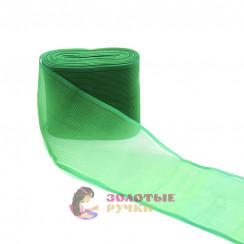 Лента капроновая в рулонах 25 метров, ширина 80 мм, цвет зеленый