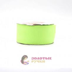 Лента репсовая в рулонах по 30 ярдов, ширина 50 мм, цвет ярко зеленый