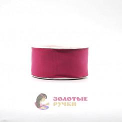 Лента репсовая в рулонах по 30 ярдов, ширина 50 мм, цвет малина