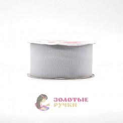 Лента репсовая в рулонах по 30 ярдов, ширина 50 мм, цвет серый