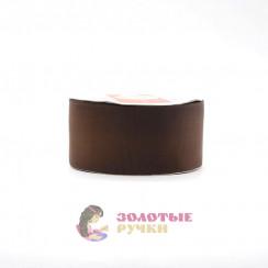 Лента репсовая в рулонах по 30 ярдов, ширина 50 мм, цвет коричневый