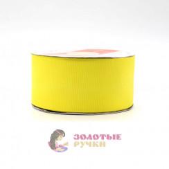 Лента репсовая в рулонах по 30 ярдов, ширина 50 мм, цвет желтый