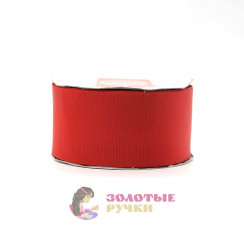 Лента репсовая в рулонах по 30 ярдов, ширина 50 мм, цвет красный
