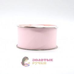 Лента репсовая в рулонах по 30 ярдов, ширина 50 мм, цвет бледно розовый