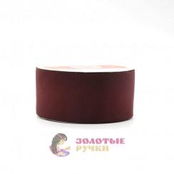 Лента репсовая в рулонах по 30 ярдов, ширина 50 мм, цвет бордовый