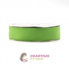 Лента репсовая в рулонах по 30 ярдов, ширина 25 мм, цвет хаки