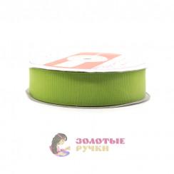 Лента репсовая в рулонах по 30 ярдов, ширина 25 мм, цвет фисташковый