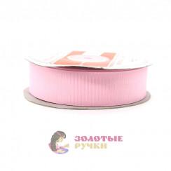 Лента репсовая в рулонах по 30 ярдов, ширина 25 мм, цвет ярко розовый