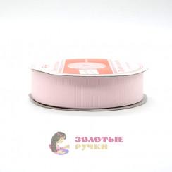 Лента репсовая в рулонах по 30 ярдов, ширина 25 мм, цвет розовый