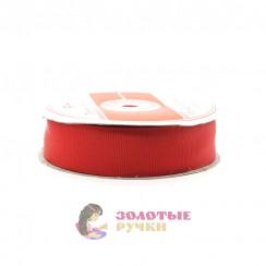 Лента репсовая в рулонах по 30 ярдов, ширина 25 мм, цвет красный