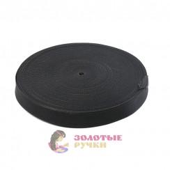Лента ременная (стропа) ширина 30 мм черная (уп. 50 метр)