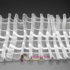 Лента шторная ширина 80 мм прозрачная равномерная (50 метров)