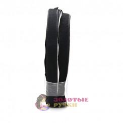Липучка, ширина 20 мм, в упаковке 25 метров, черная