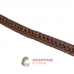 """Тесьма отделочная """"Самоса"""", ширина 18 мм, в упаковке 18 метров, цвет коричневый"""
