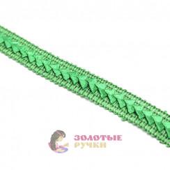 """Тесьма отделочная """"Самоса"""", ширина 18 мм, в упаковке 18 метров, цвет зелёный"""