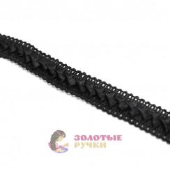 """Тесьма отделочная """"Самоса"""", ширина 18 мм, в упаковке 18 метров, цвет чёрный"""