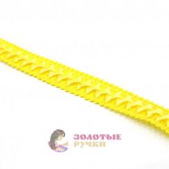 """Тесьма отделочная """"Самоса"""", ширина 18 мм, в упаковке 18 метров, цвет жёлтый"""