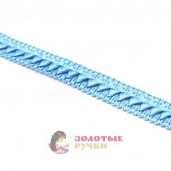 """Тесьма отделочная """"Самоса"""", ширина 18 мм, в упаковке 18 метров, цвет голубой"""