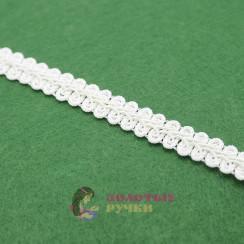 """Тесьма отделочная """"Шанель"""", ширина 15 мм, в упаковке 18 метров, цвет белый"""