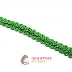 """Тесьма отделочная """"Шанель"""", ширина 15 мм, в упаковке 18 метров, цвет зелёный"""