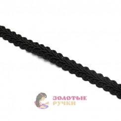 """Тесьма отделочная """"Шанель"""", ширина 15 мм, в упаковке 18 метров, цвет чёрный"""